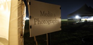 The media tent sign in the aftermath of Symphony in the Flint Hills in Bushong, KS.   Photo by Cary Conover 646-729-5008 cary@caryconover.com