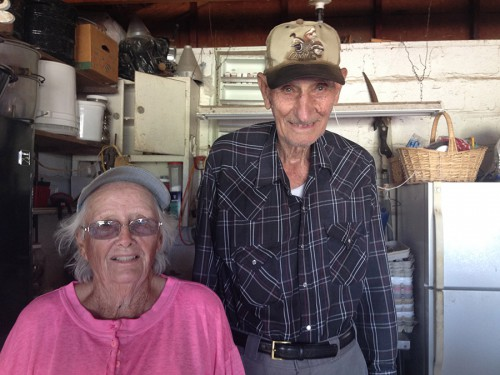 Charles (94) and Betty (88) Swift remember when Matfield Green had close to 3,000 residents, a grocery store, post office, swimming hole and a hardware store around 70 years ago. They have been married for 72 years and live on 147 acres in the Flint Hills they bought for $25,000.